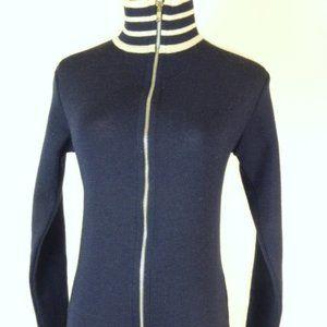 Armor Lux navy zip cardigan jacket France 1 S